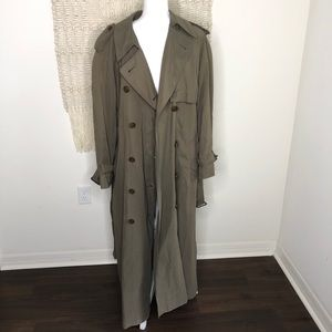Vintage Burberry Classic Trench Coat Size 14